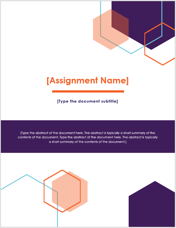 Assignment Front Page Design