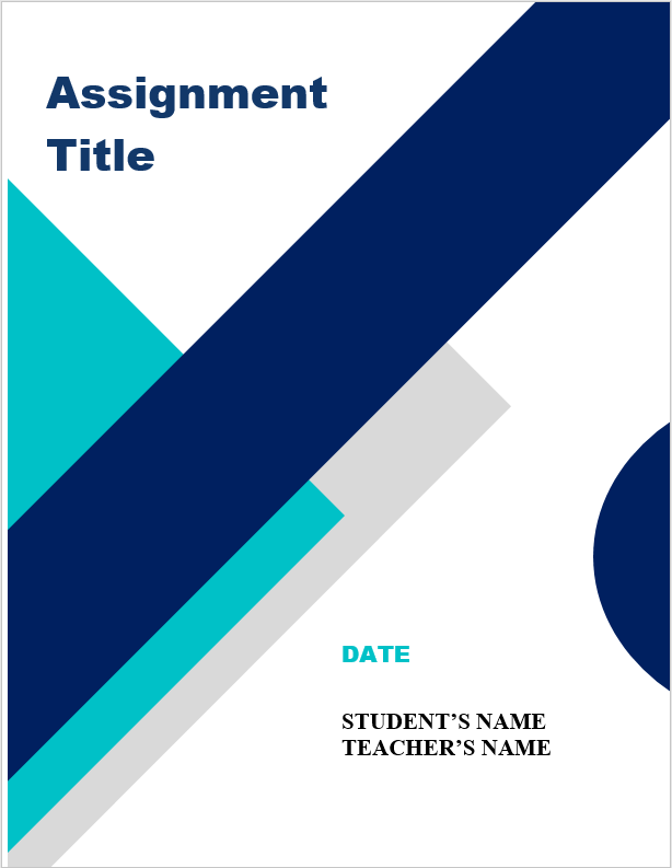 Assignment Front Page Format Word File